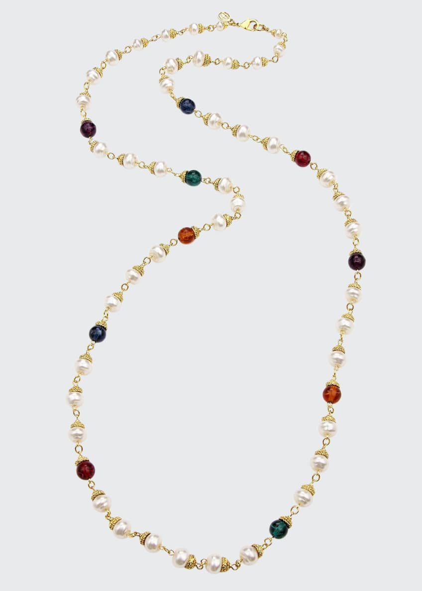 Image 1 of 1: Multicolor Long Beaded Necklace