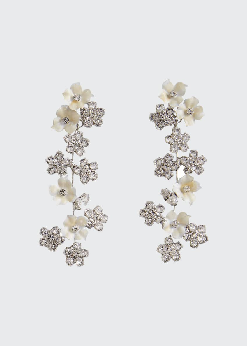 Image 1 of 1: Delphine Crystal Violet Earrings