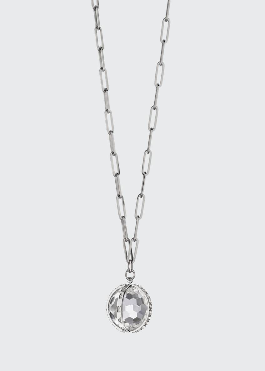 Image 1 of 1: XL Carpe Diem White Sapphire Charm Necklace in Sterling Silver