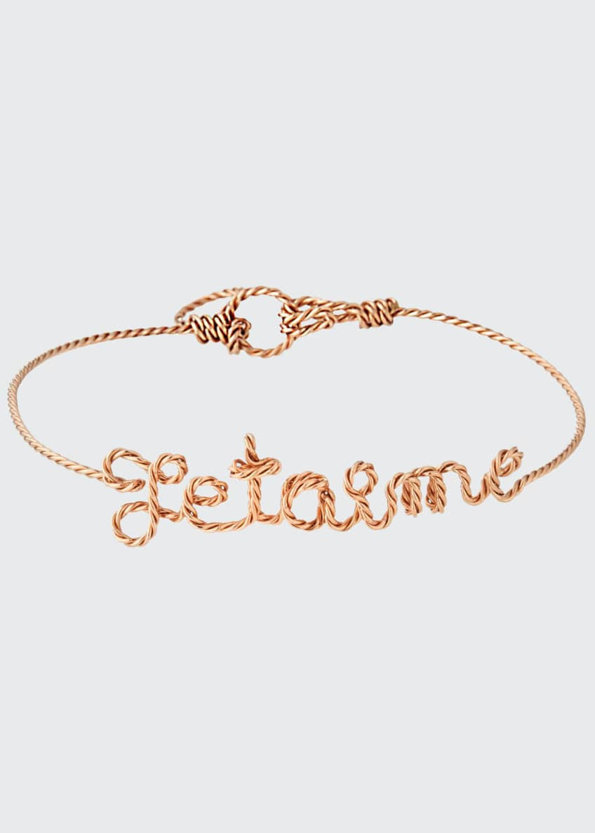 Image 1 of 2: Personalized 5-Letter Twist Wire Bracelet, Rose Gold Fill