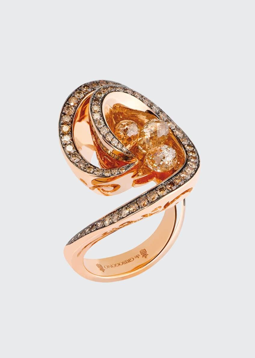De Grisogono Chiocciolina 18k Rose Gold Ring w/