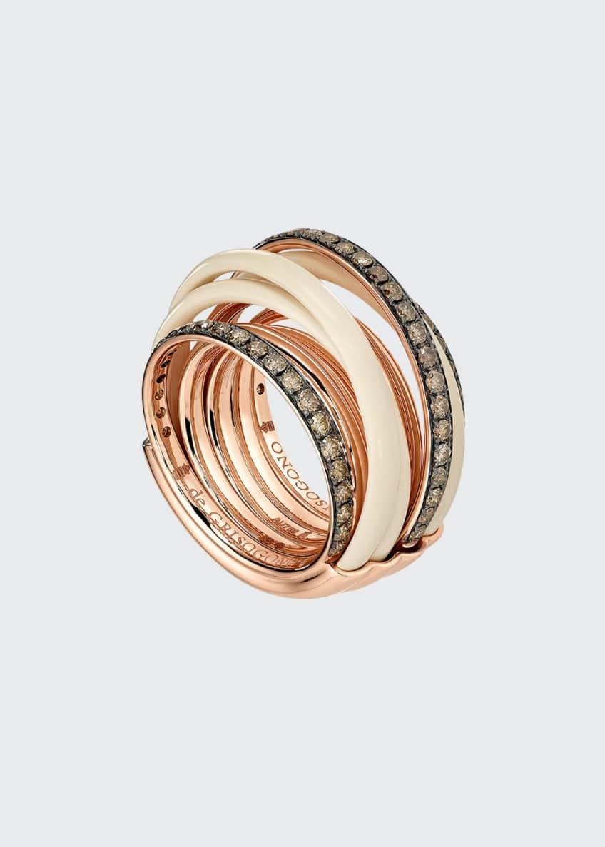 De Grisogono Allegra 18k Rose Gold & Ceramic