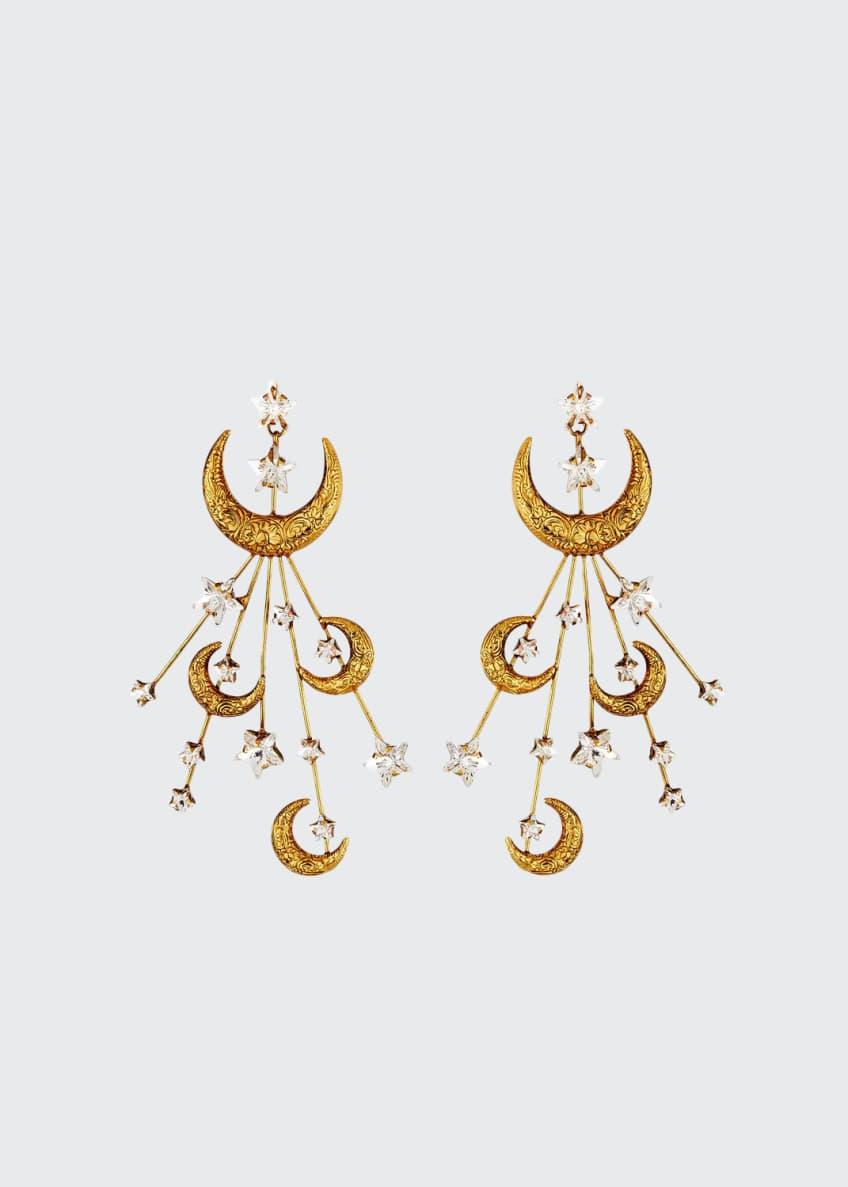 Jennifer Behr Lunetta Crescent Moon Earrings