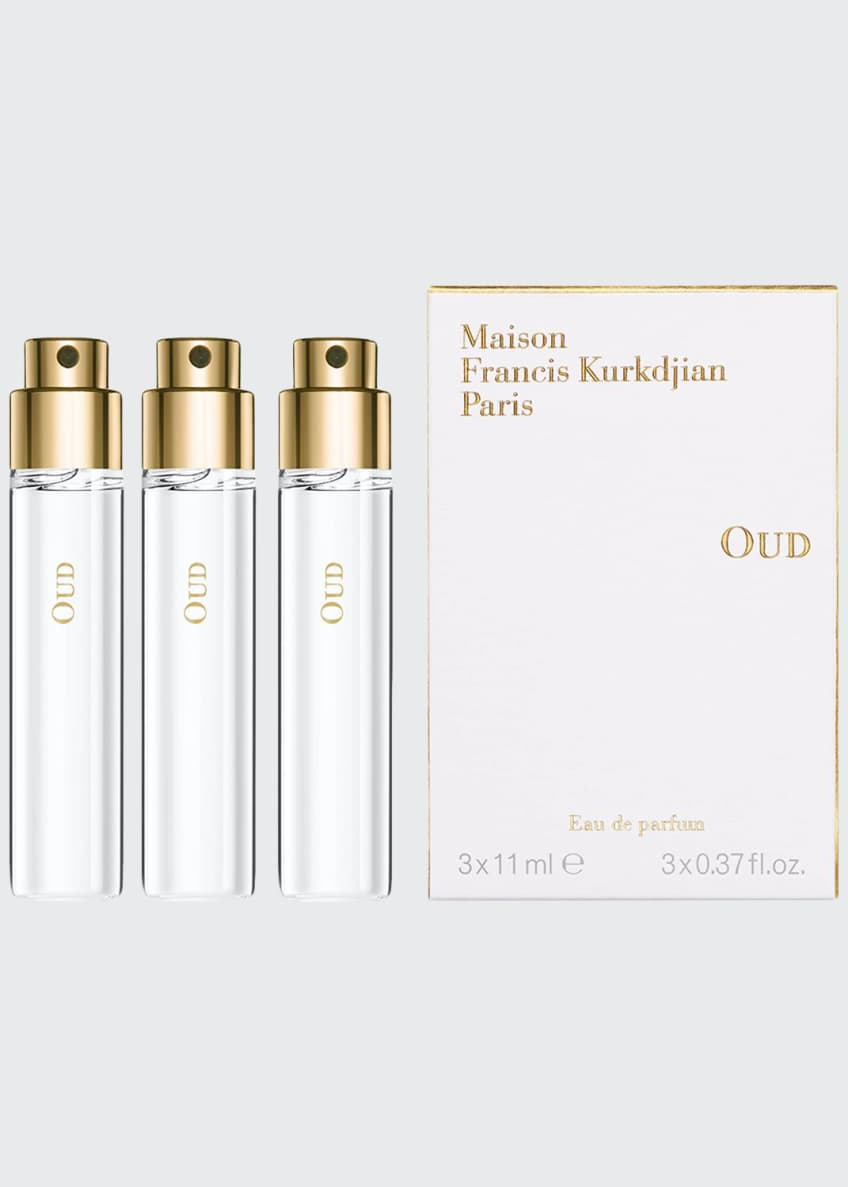 Image 1 of 1: OUD Eau de Parfum Travel Spray Refills, 3 x 0.37 oz./ 11 mL