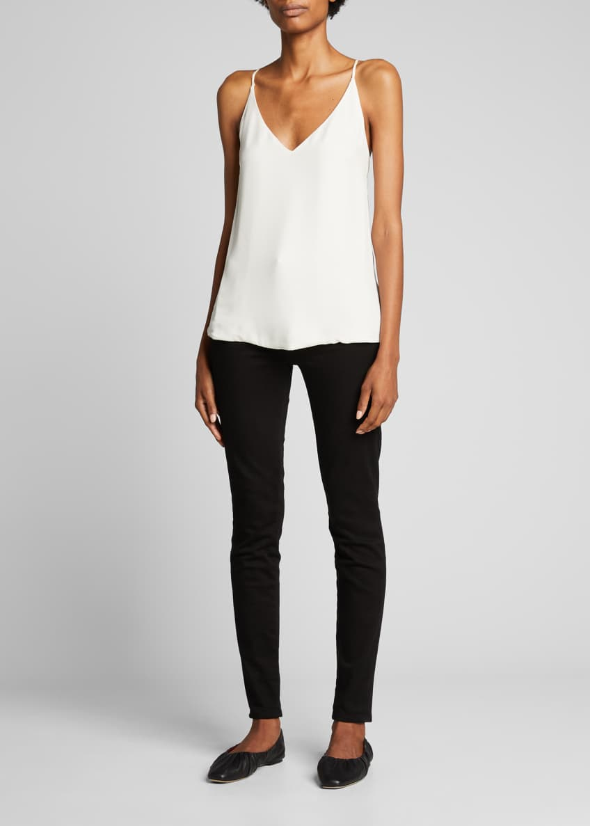 Image 1 of 3: Gabriella Silk V-Neck Tank
