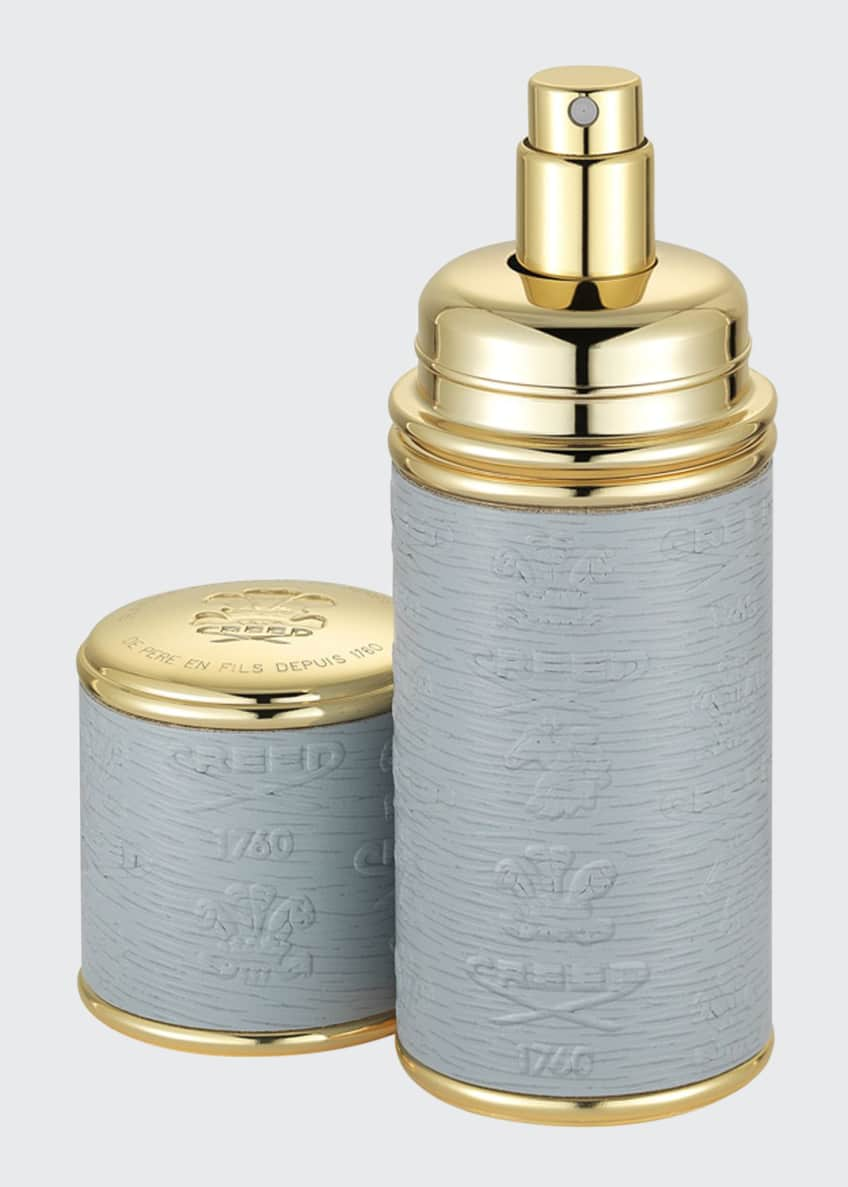Creed Logo Etched Leather Atomizer, Gold/Gray
