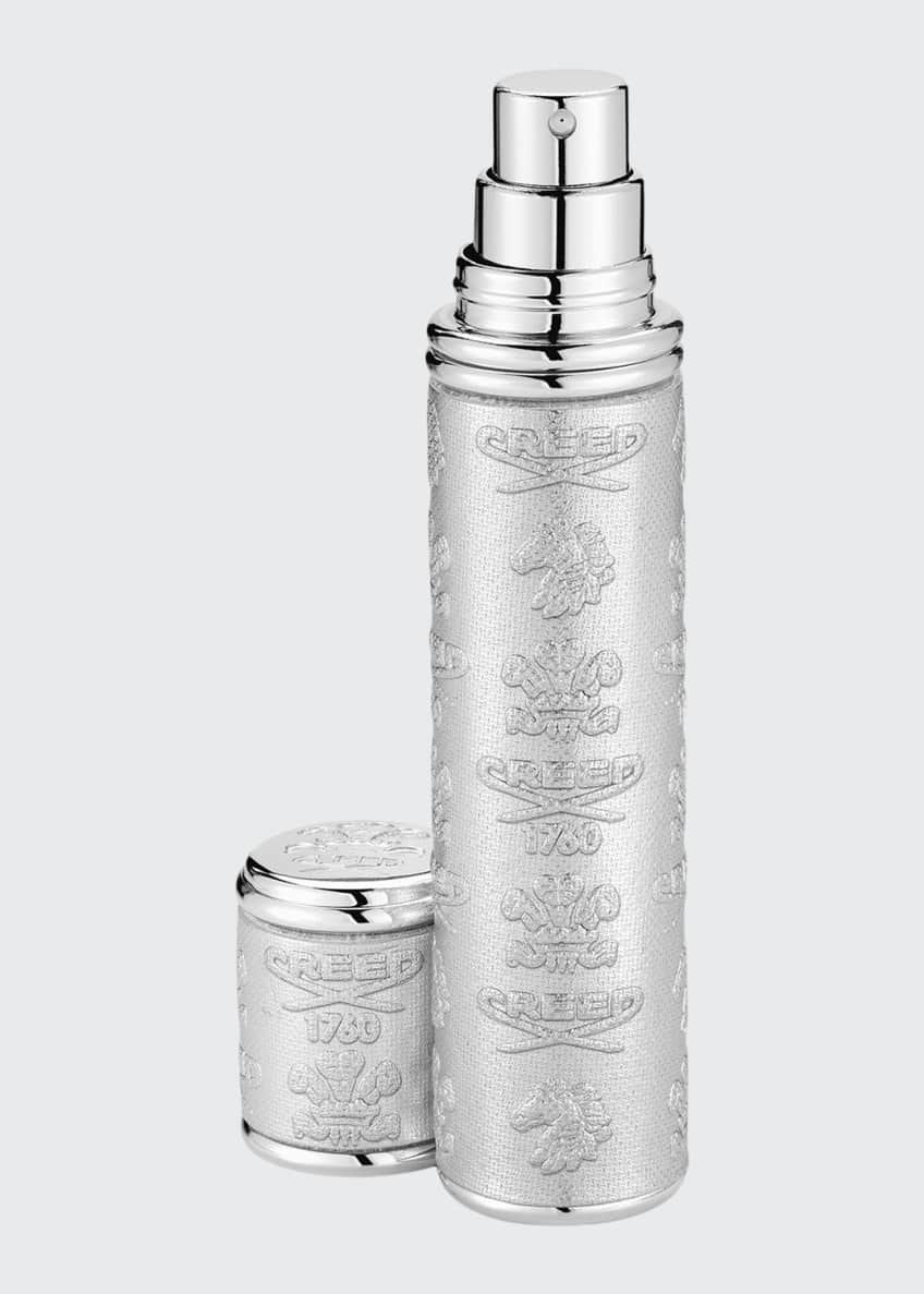 Image 1 of 1: Silver Leather Atomizer With Silver Trim, 10 mL