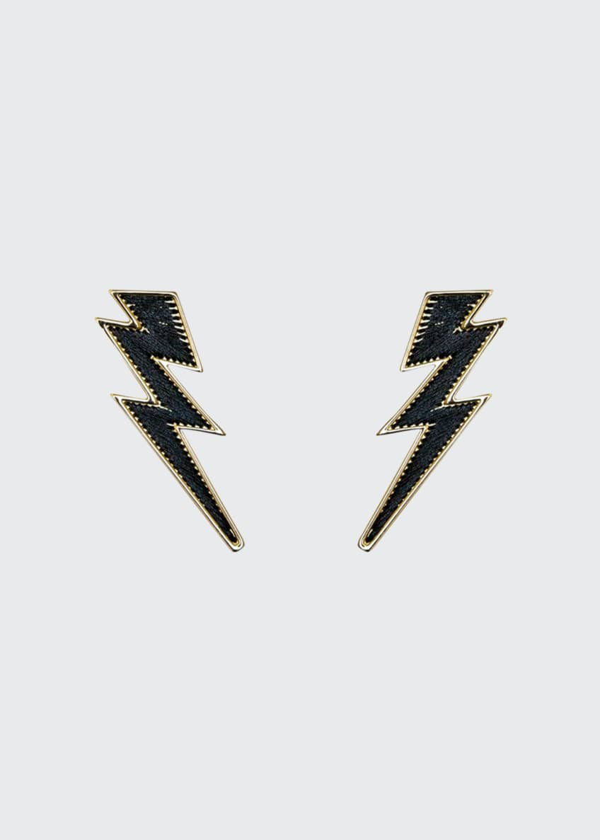 Image 1 of 2: Lightning Bolt Thread Earrings