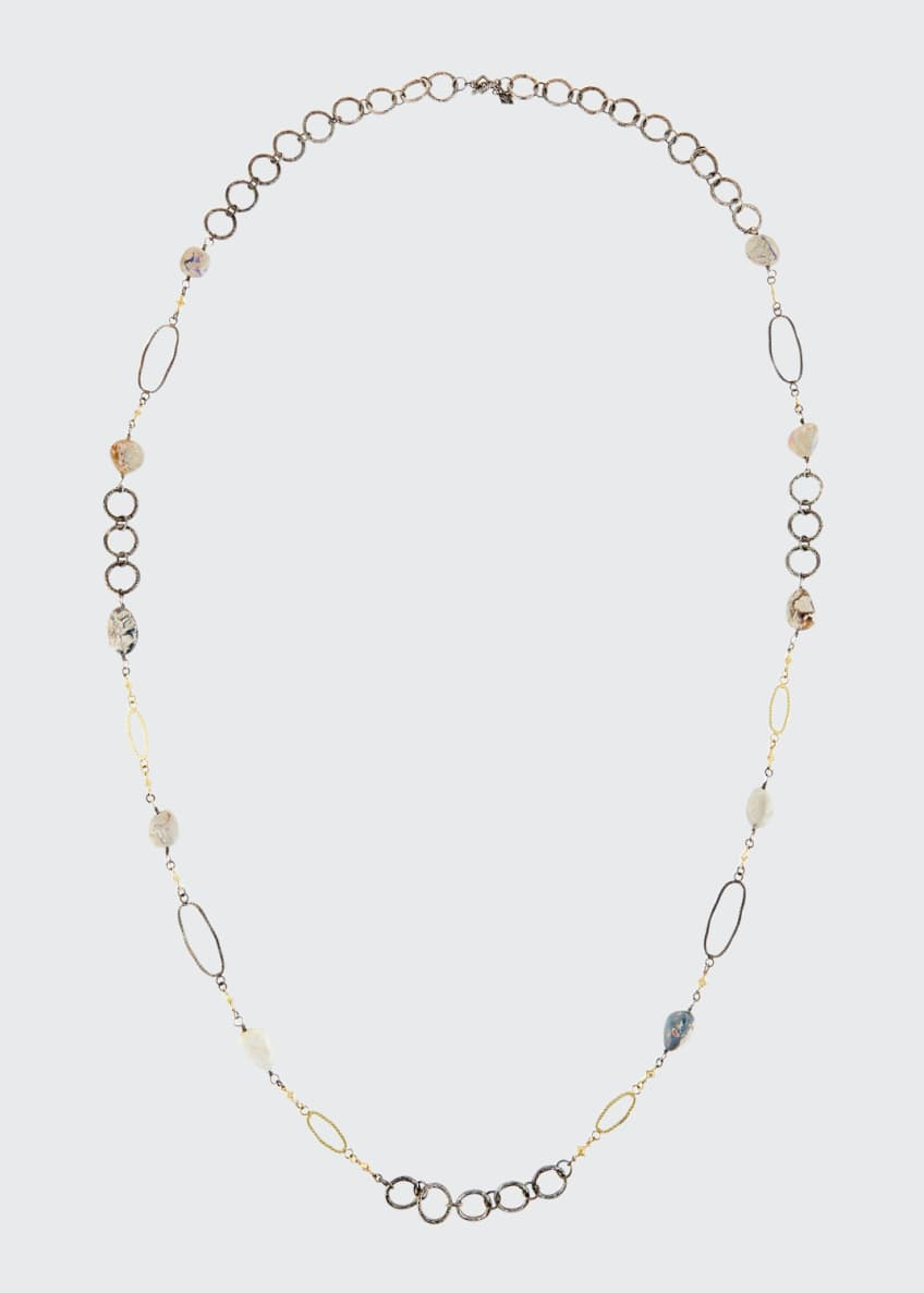 Image 1 of 1: Old World Boulder Opal & Diamond Crivelli Necklace, 40""