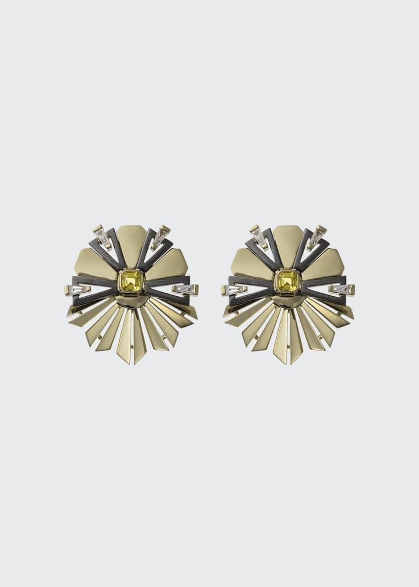 Nikos Koulis 18k Gold Fame Yellow Sapphire/Diamond Fanned