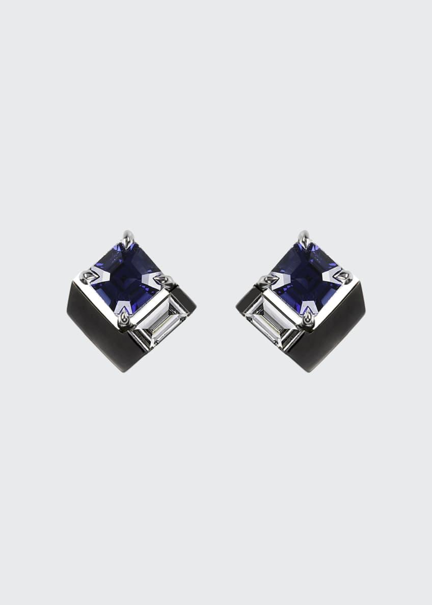 Nikos Koulis 18k White Gold Fame Blue Sapphire/Diamond