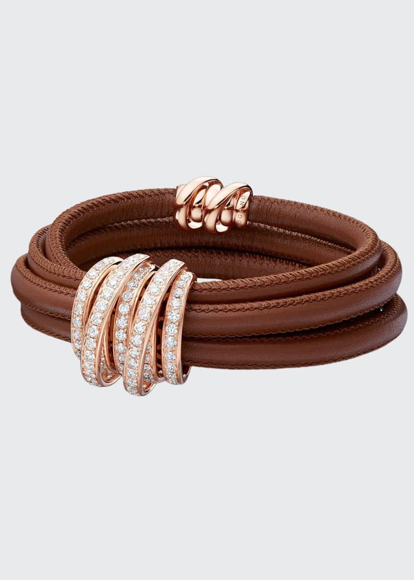 De Grisogono Allegra 18k Rose Gold & Leather