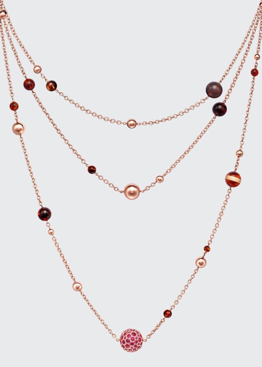 De Grisogono Boule 18k Rose Gold Necklace w/