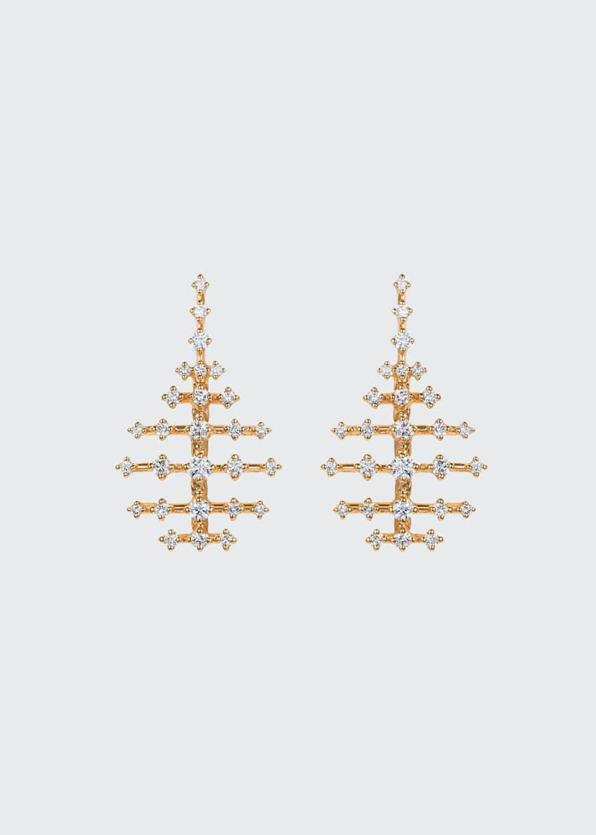 Fernando Jorge Mini Disco 18k Diamond Earrings