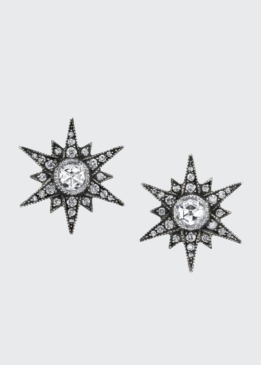 Arman Sarkisyan Rose-Cut Diamond Starburst Stud Earrings
