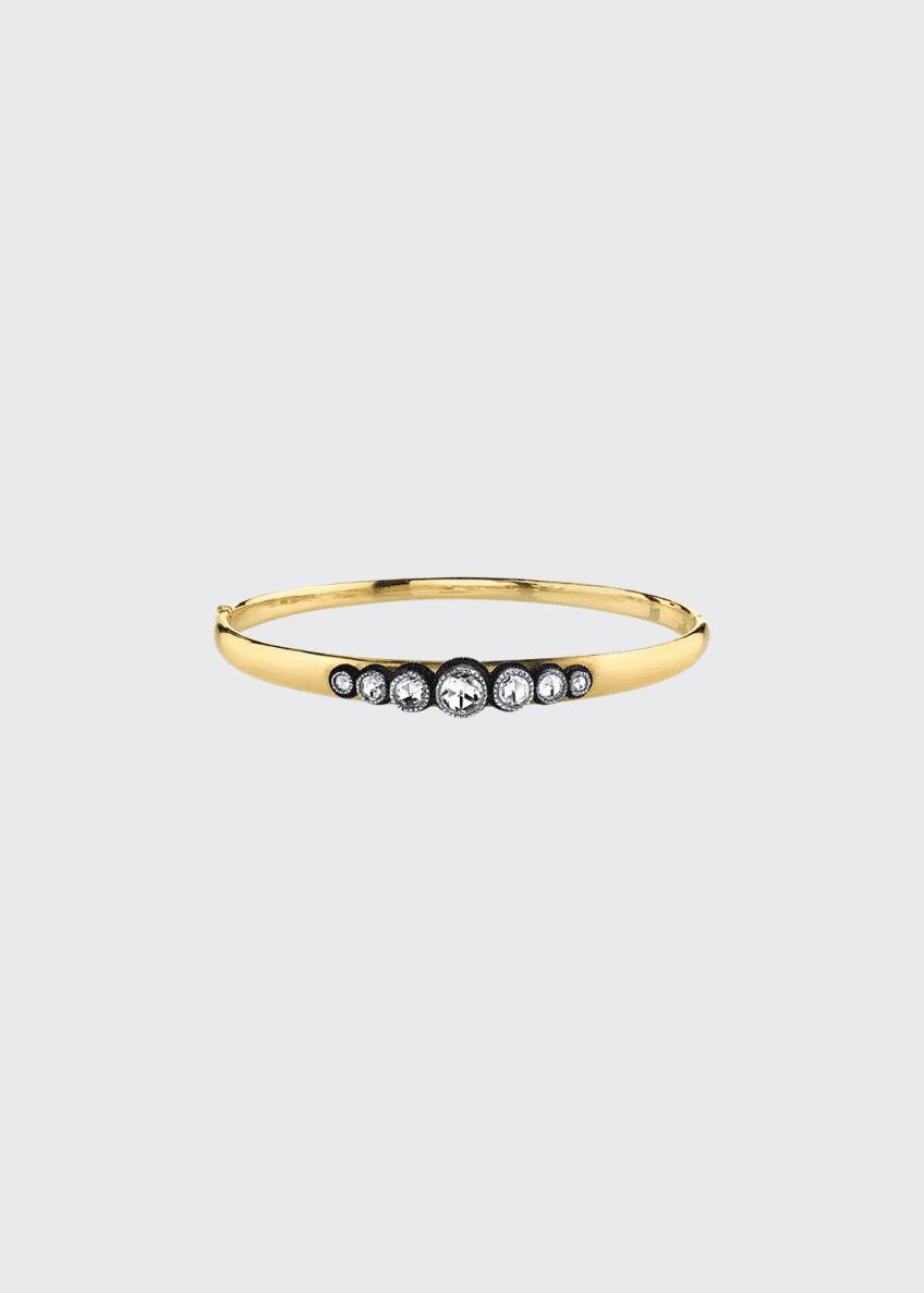 Arman Sarkisyan 18k Gold 7-Diamond Hinge Bracelet