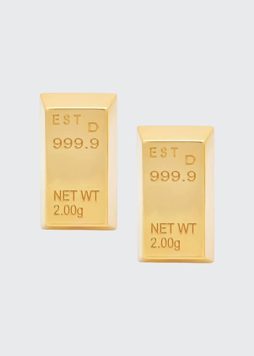 Established Jewelry 14k Gold Bar Stud Earrings