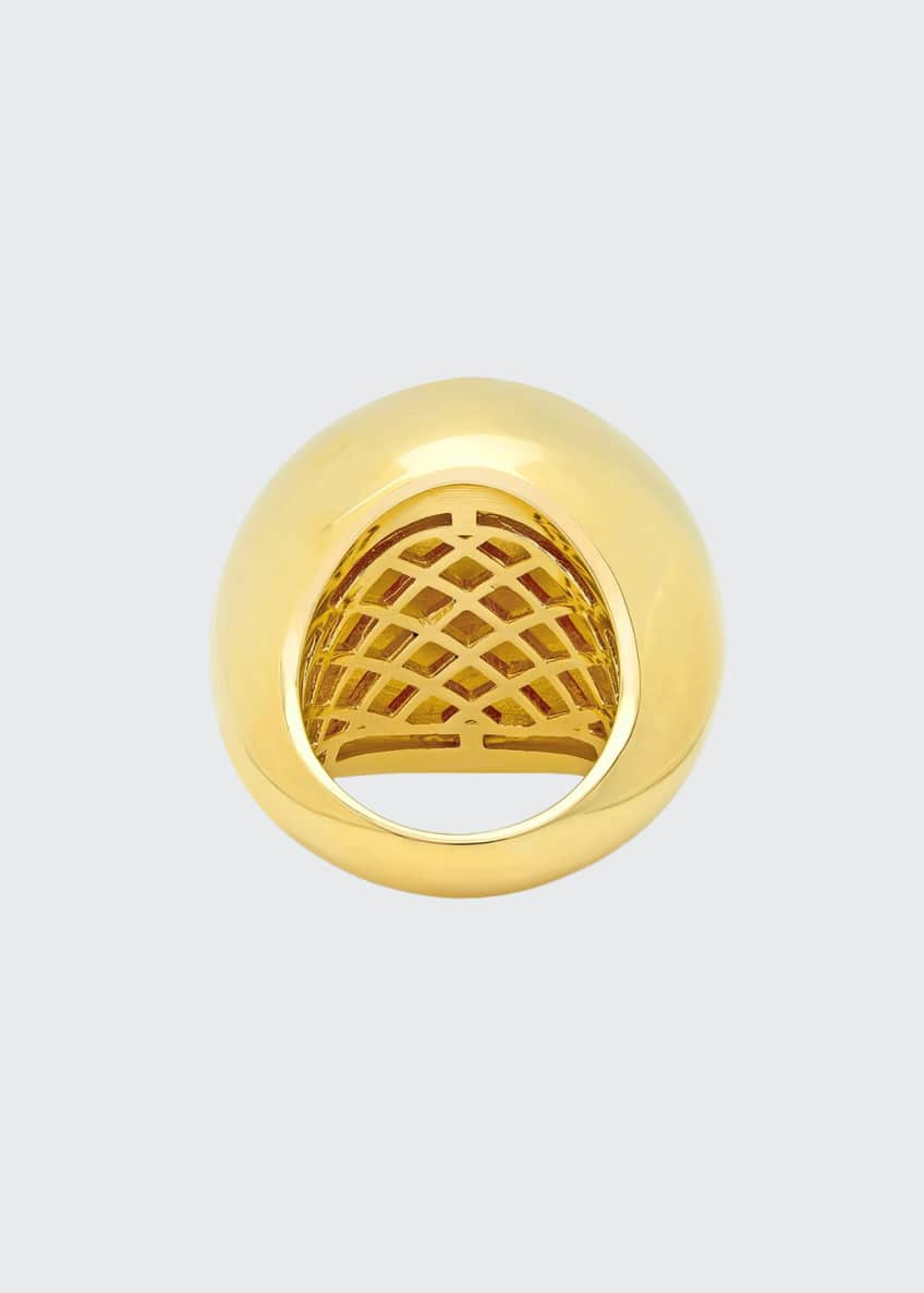 Established Jewelry 14k Yellow Gold Bauble-Shaped Dome Ring,