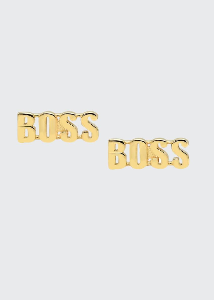 Established Jewelry 14k Gold BOSS Stud Earrings