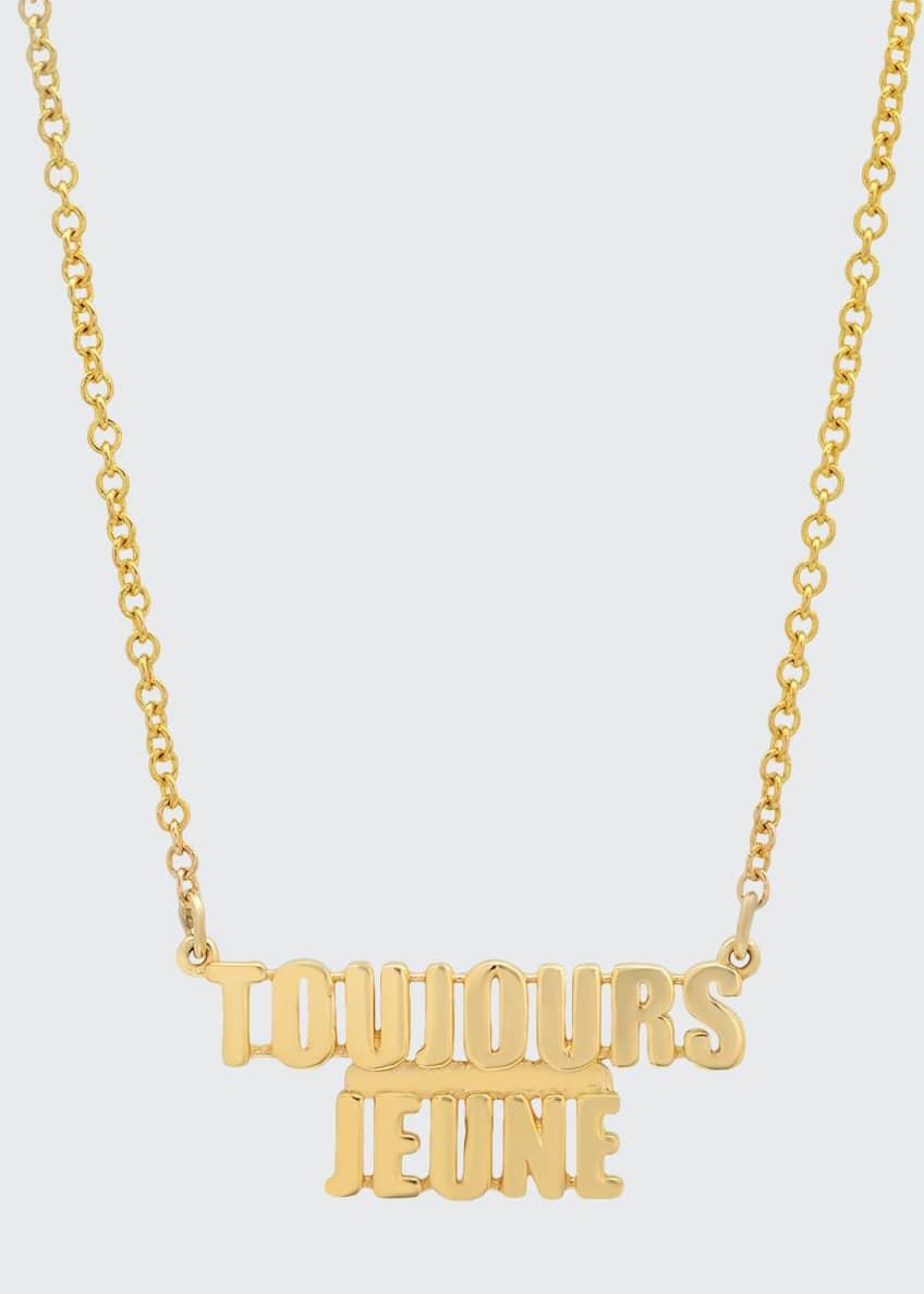Established Jewelry 14k Gold TOUJOURS JEUNE Pendant Necklace