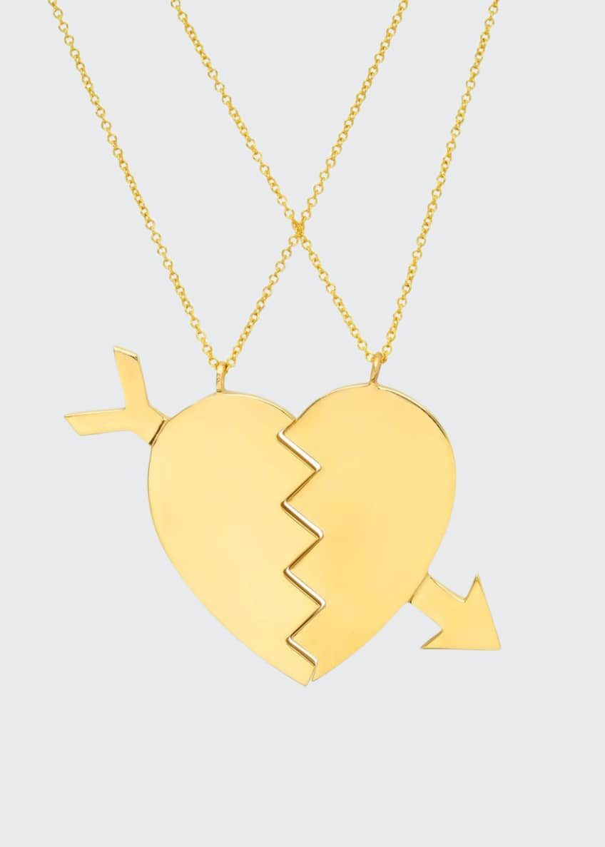 Established Jewelry 14k Broken Heart Necklaces, Set of