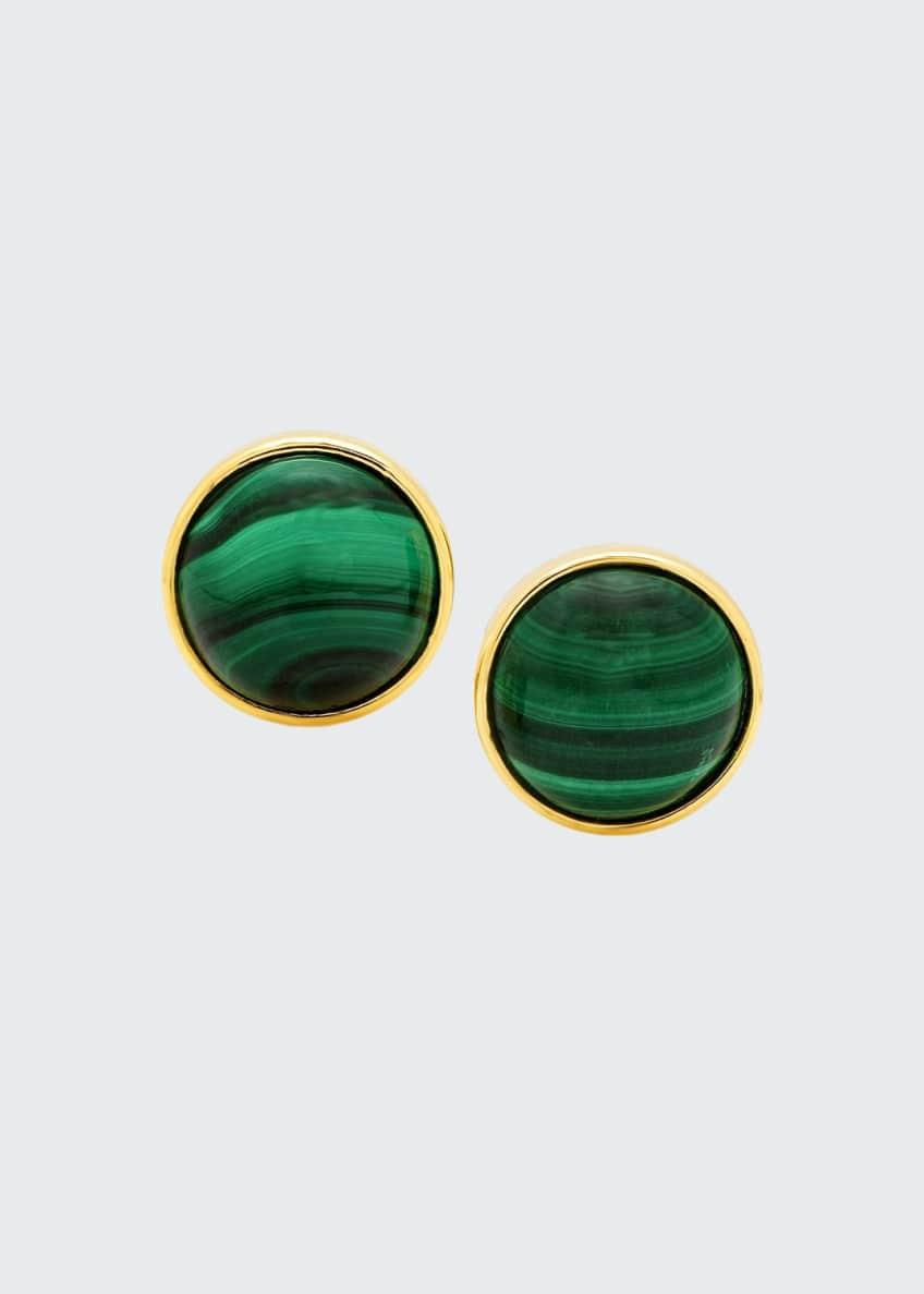 Established Jewelry 18k Malachite Stud Earrings