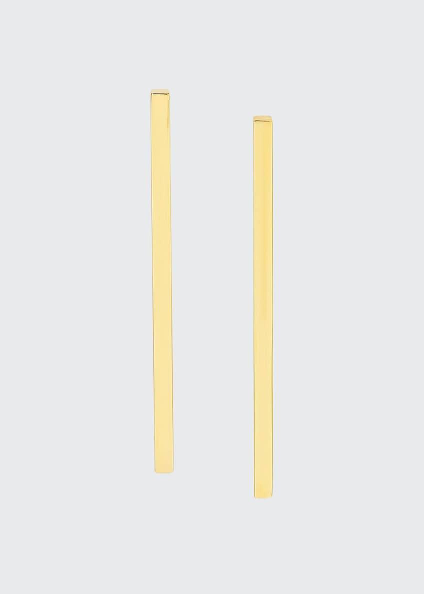 Established Jewelry 14k Yellow Gold Long Stick Earrings