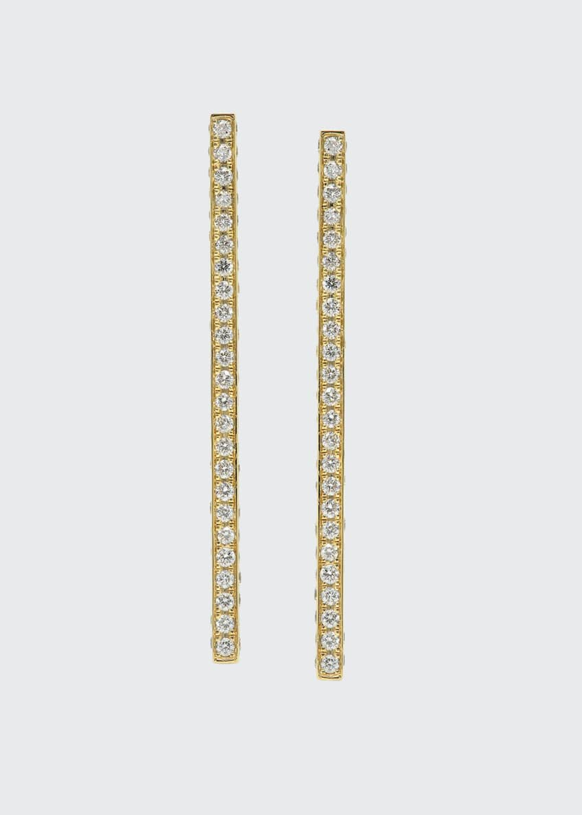 Established Jewelry 18k Gold Diamond Pave Long Stick