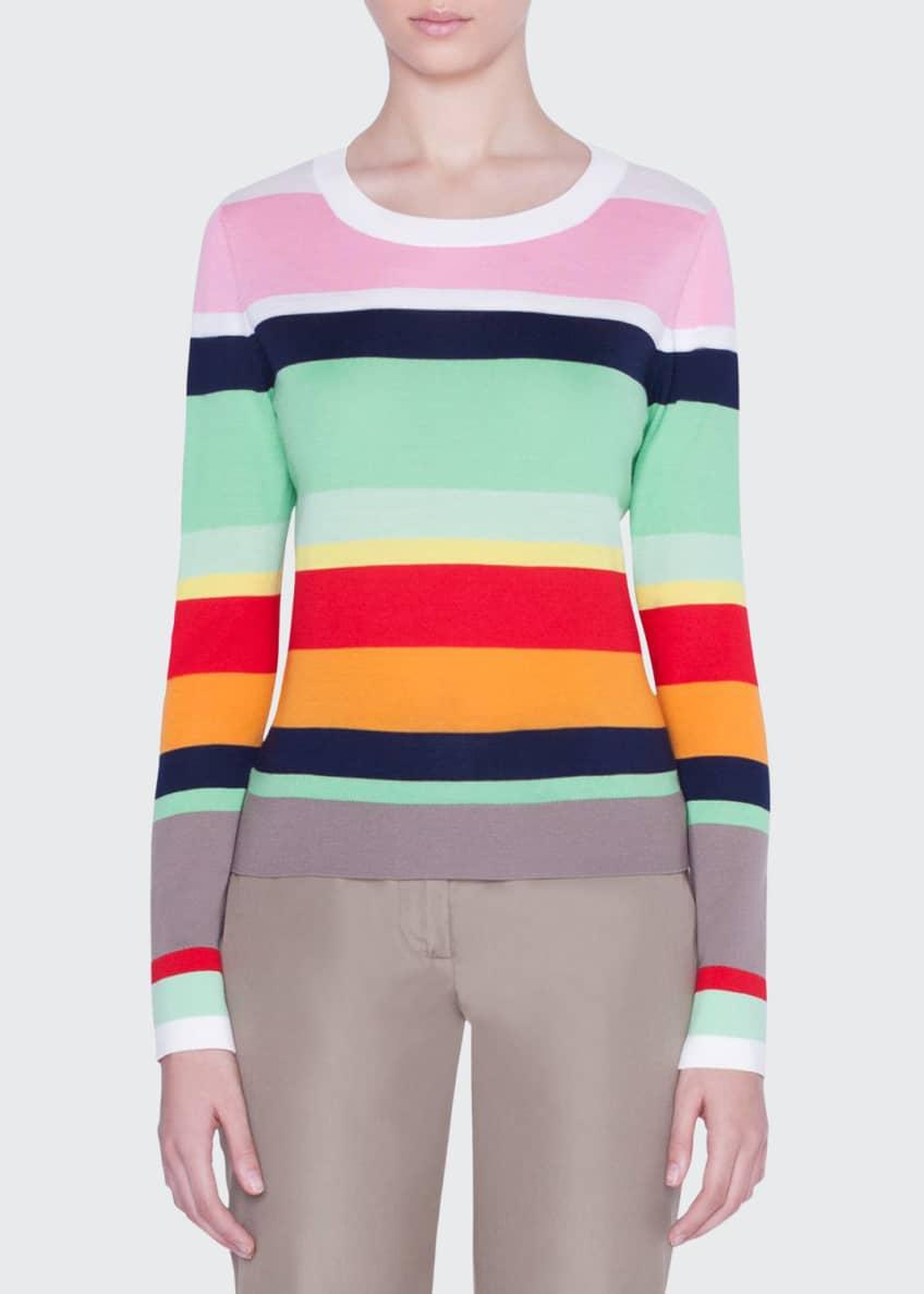 Akris punto Striped-Wool Boxy Sweater & Matching Items