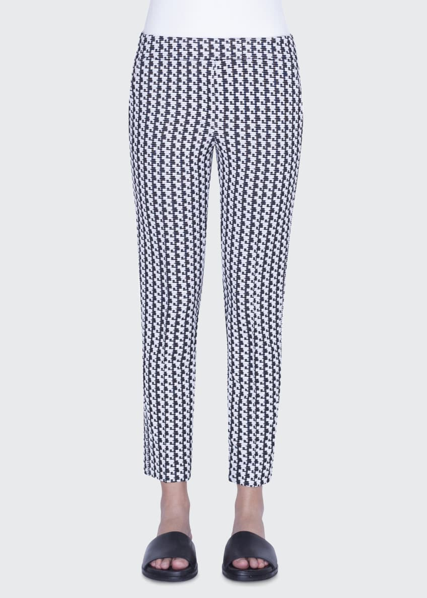 Akris punto Frankie Soundboard-Pattern Jersey Pants & Matching