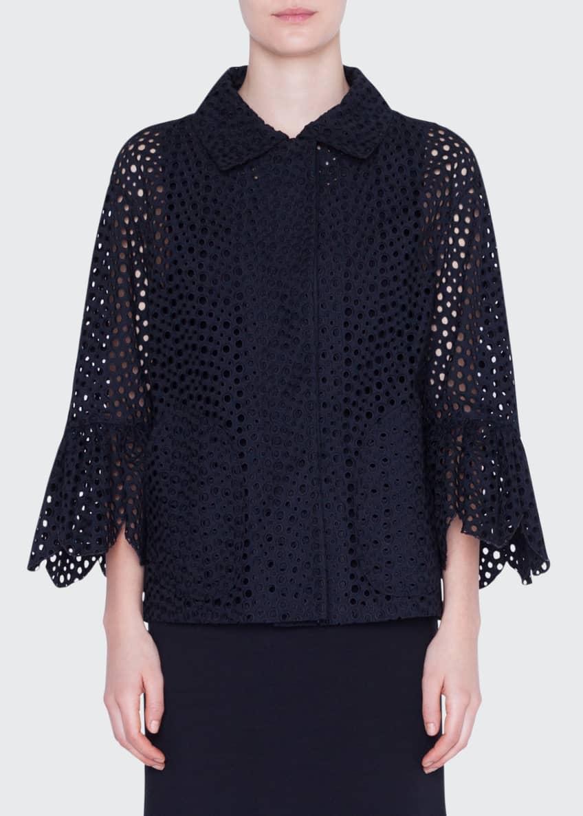 Akris punto Eyelet-Embroidered Jacket & Matching Items