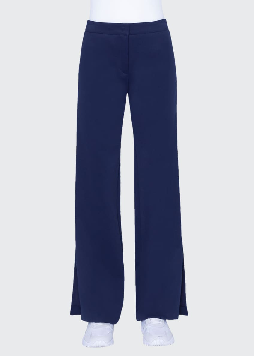 Image 1 of 4: Marla Tuxedo-Striped Jersey pants