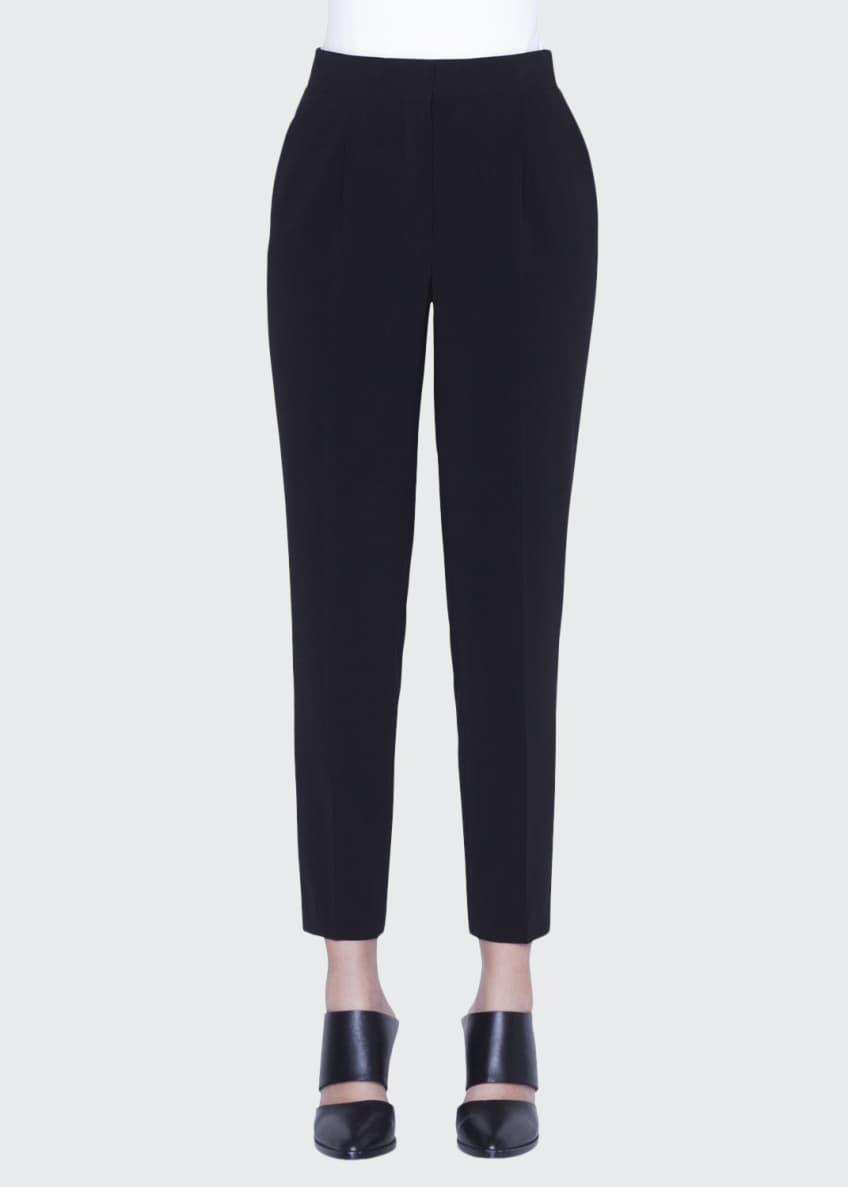 Akris punto Patchwork Silk Short-Sleeve Shirt & Matching