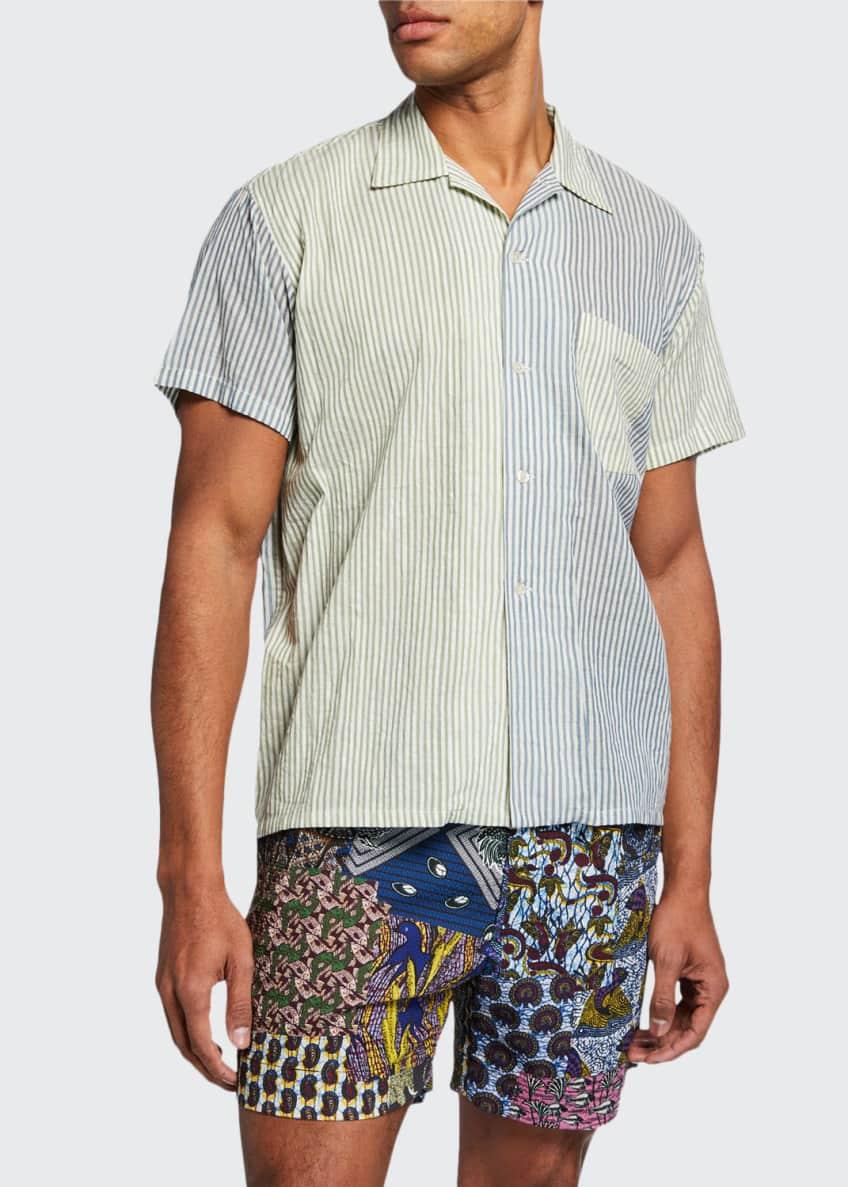 Bode Men's Batik Patchwork-Print Shorts & Matching Items
