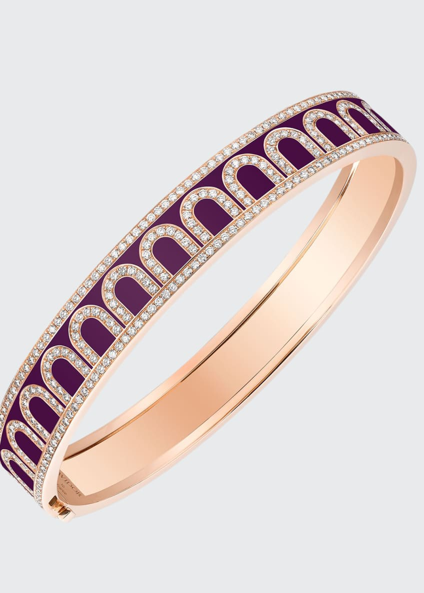 Image 1 of 1: L'Arc de Davidor 18k Rose Gold Diamond Bangle - Med. Model, Aubergine