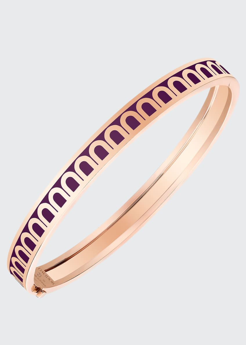 L'Arc de Davidor 18k Rose Gold Bangle - Petite Model, Aubergine