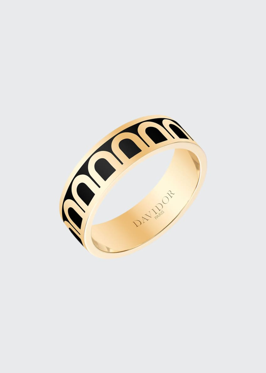 Image 1 of 1: L'Arc de Davidor 18k Gold Ring - Med. Model, Caviar, Sz. 6