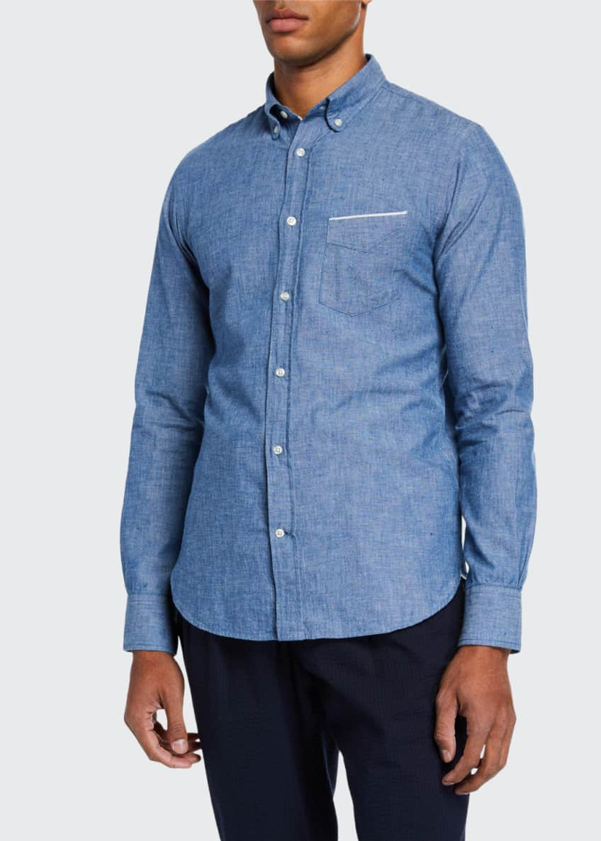 Officine Generale Men's Chambray Sport Shirt & Matching