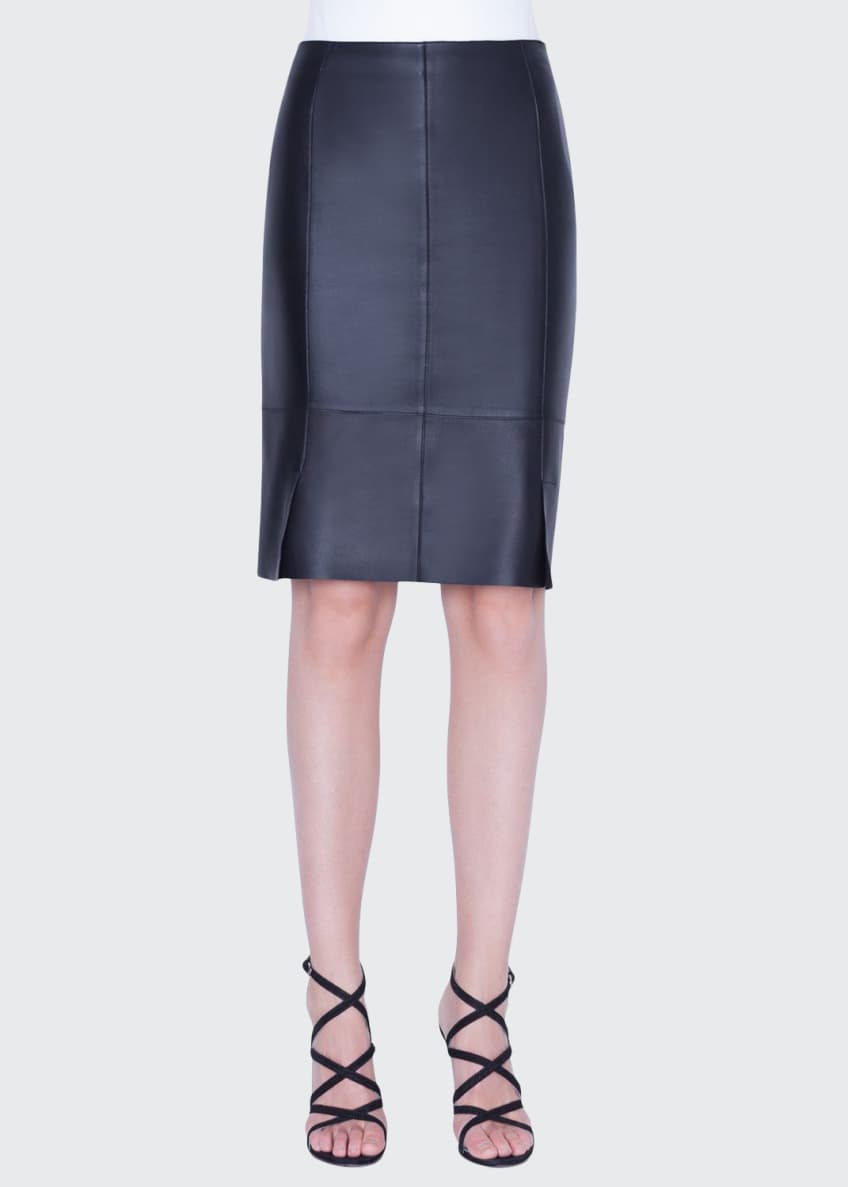Image 1 of 2: Leather Pencil Skirt