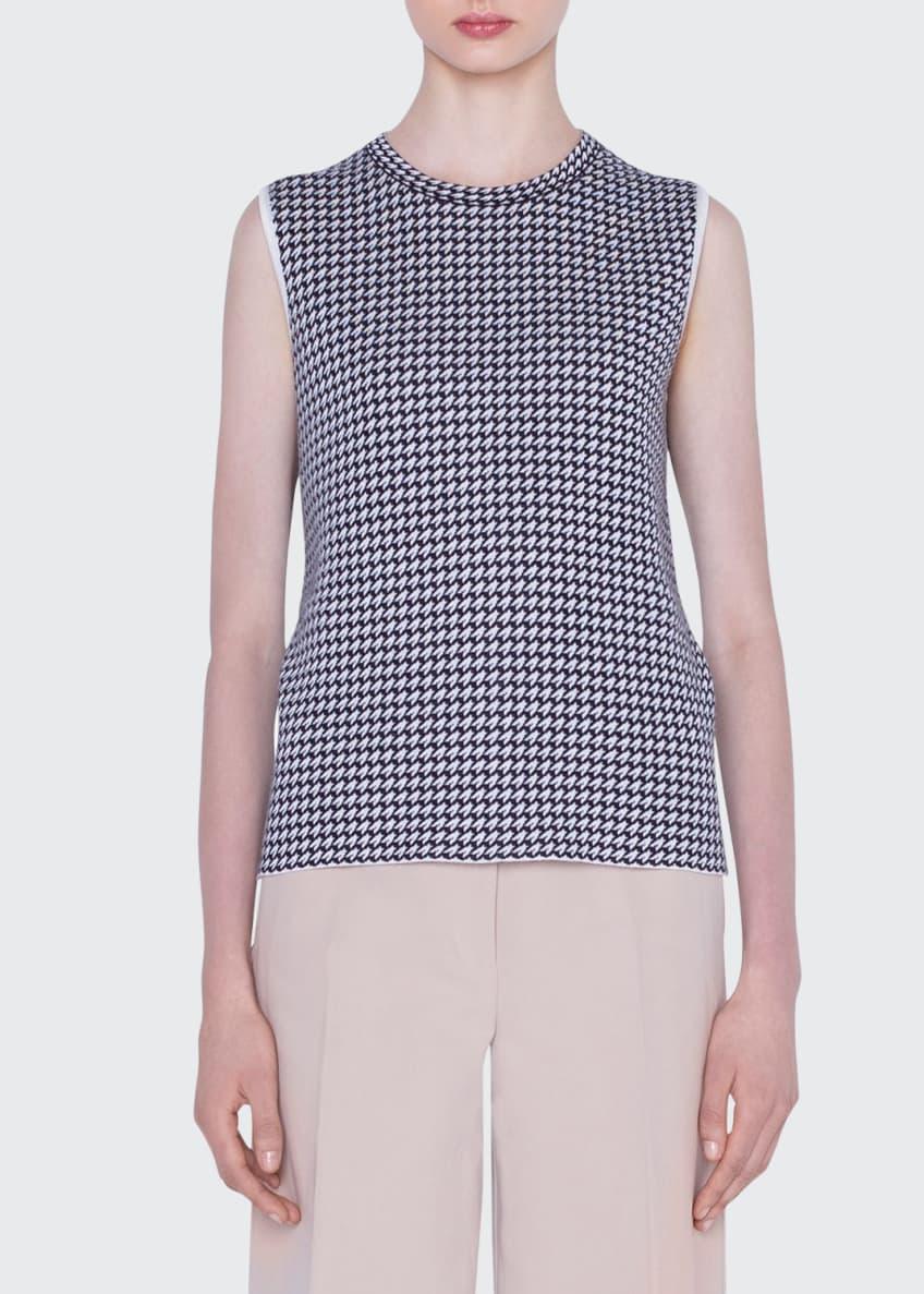 Akris Cashmere-Silk Houndstooth Jacquard Sweater & Matching Items