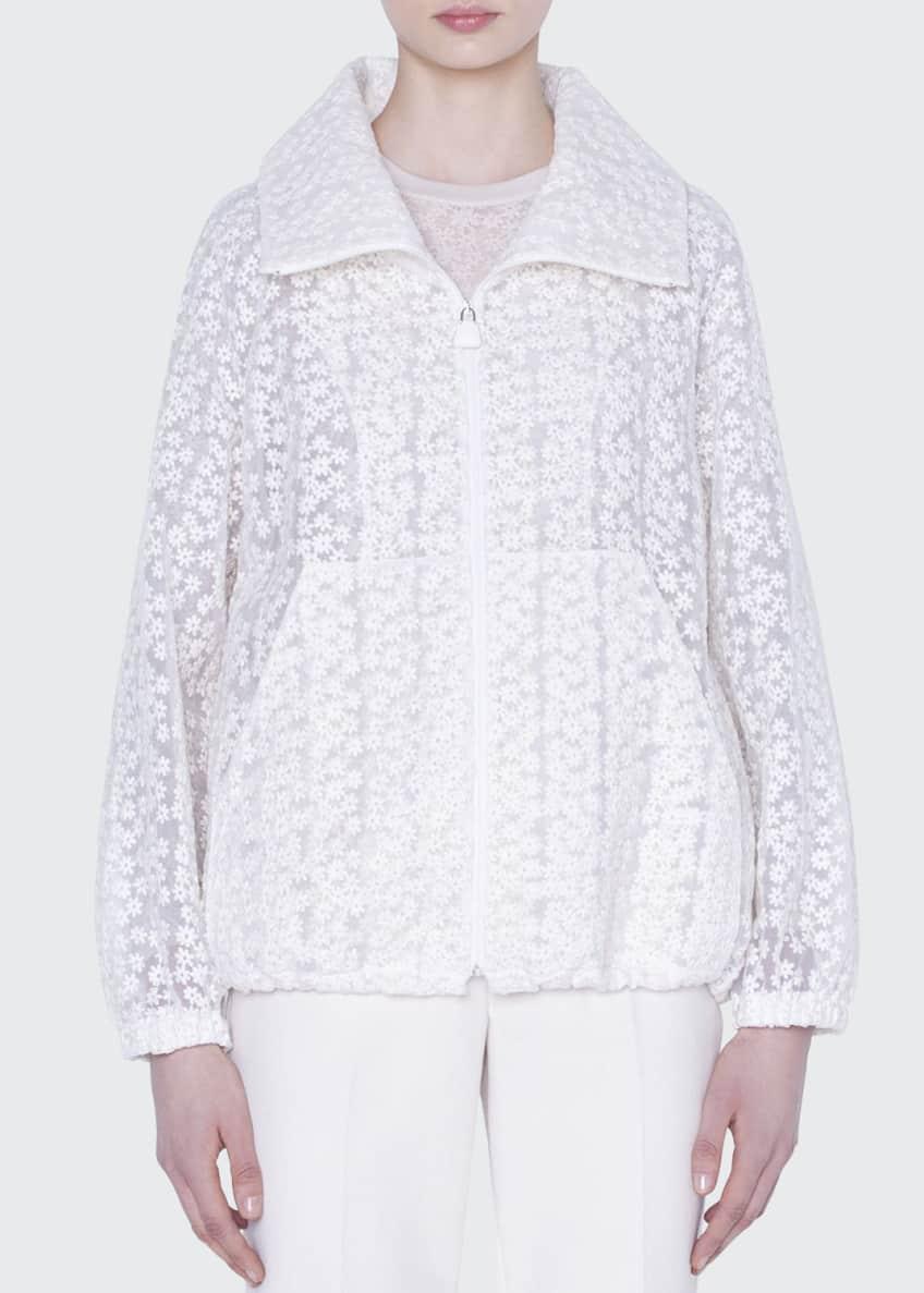 Akris Clelia Daisy Embroidered Organza Jacket & Matching