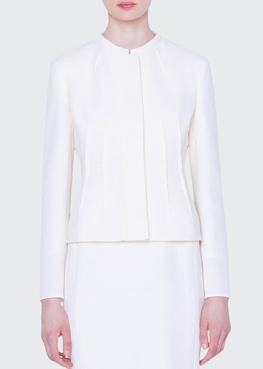 Akris Abadin Wool-Crepe Darted Jacket & Matching Items