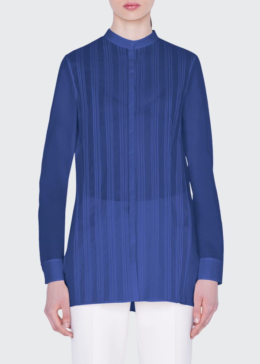 Akris Pleated-Front Voile Blouse & Matching Items