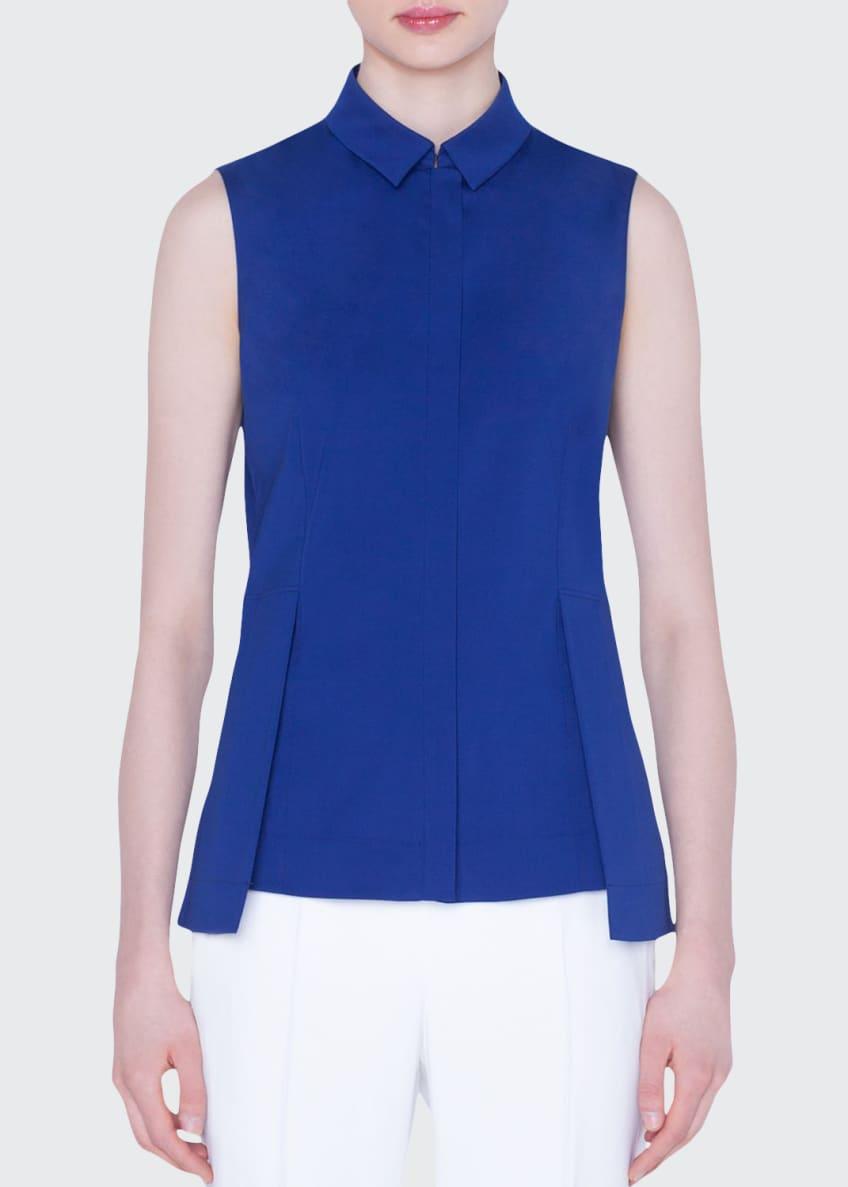 Akris Sleeveless Zip-Front Peplum Shirt & Matching Items