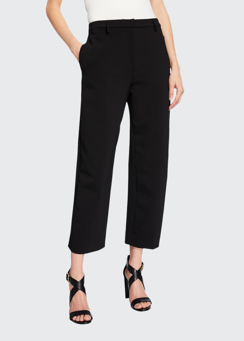 Image 1 of 4: Classic High-Rise Dense-Wool Pants