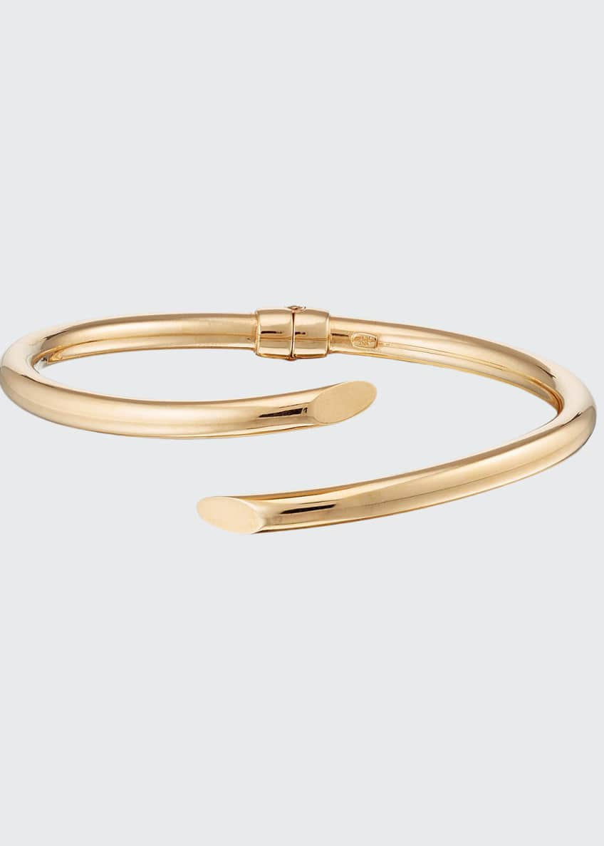 Image 1 of 1: Hollow 14k Gold Crossover Bangle