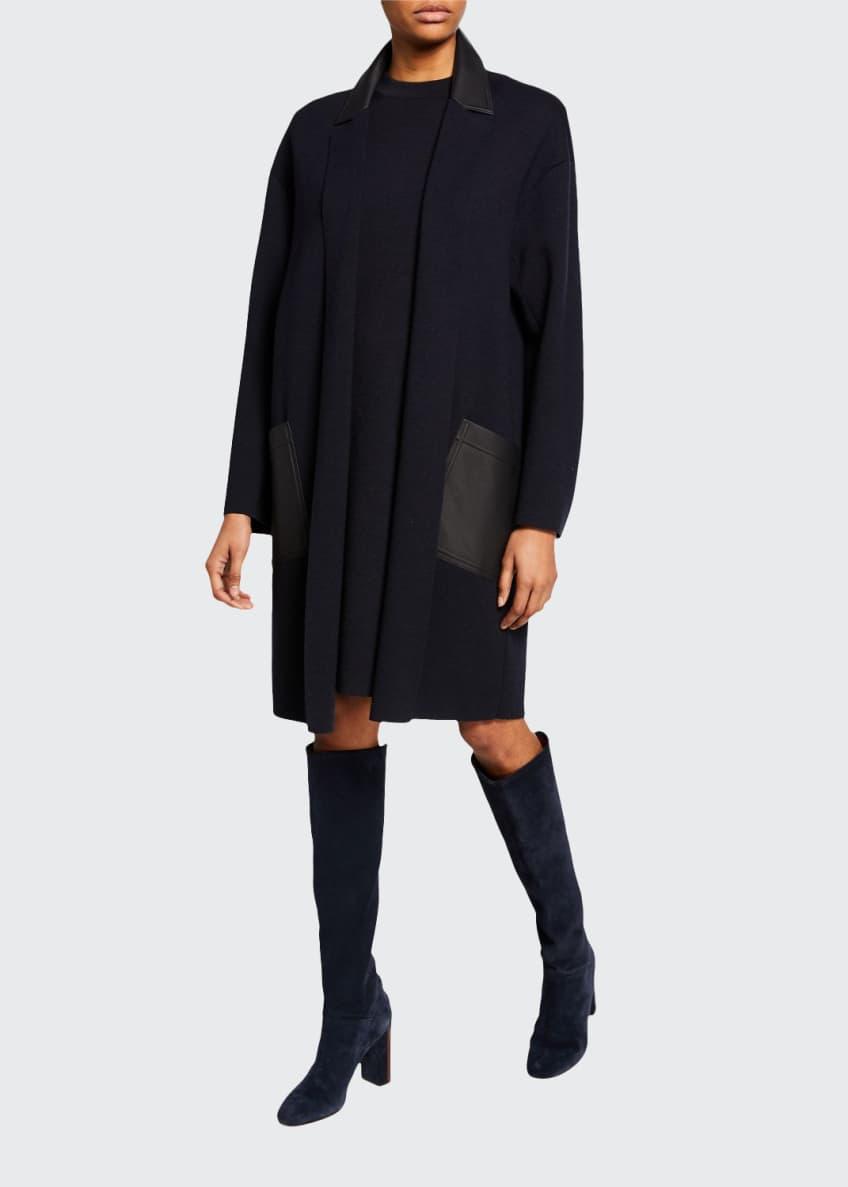 Loro Piana Cashmere-Silk 1/2-Sleeve Sheath Dress & Matching