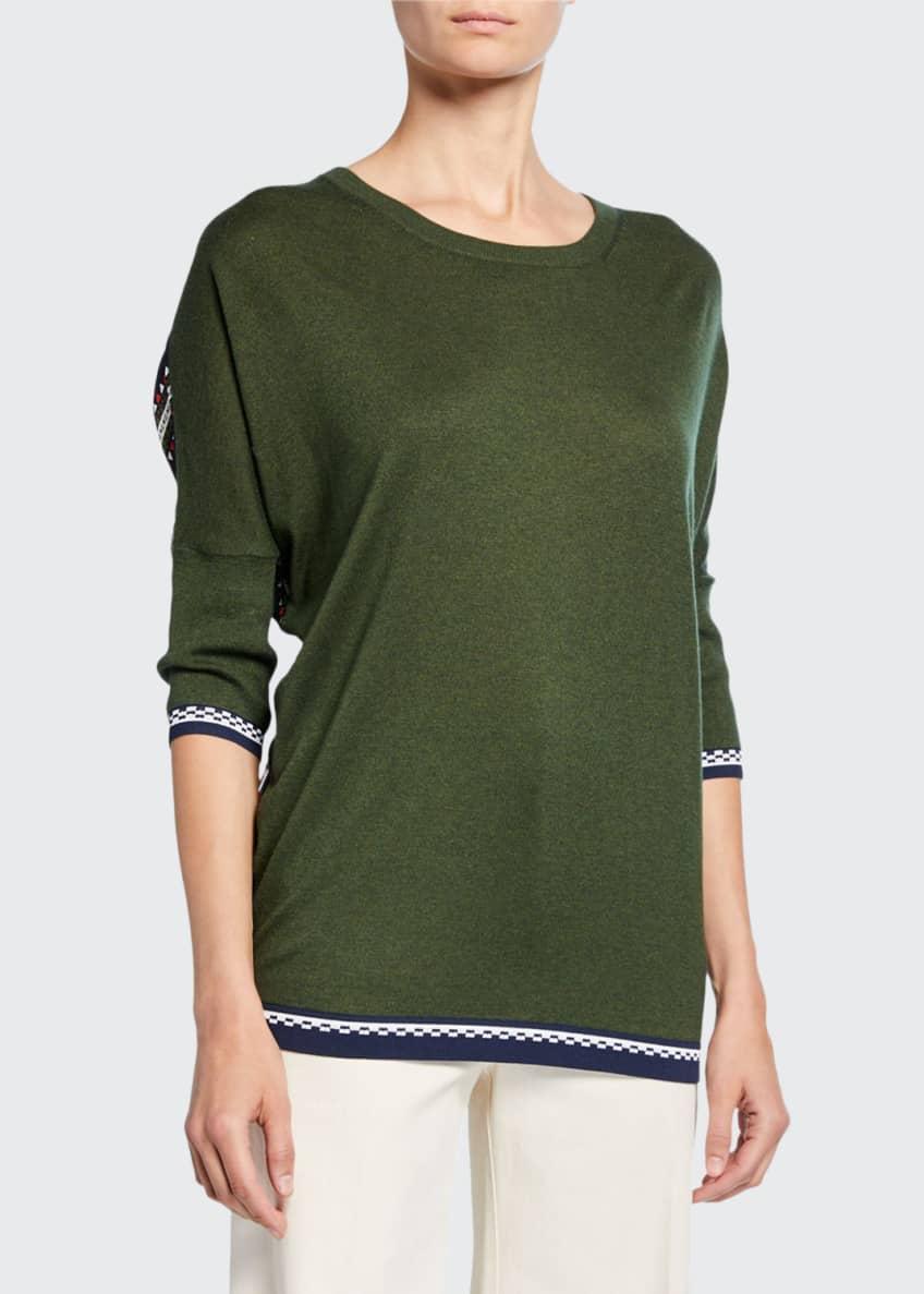 Derek Lam Striped-Back Crewneck Sweater & Matching Items