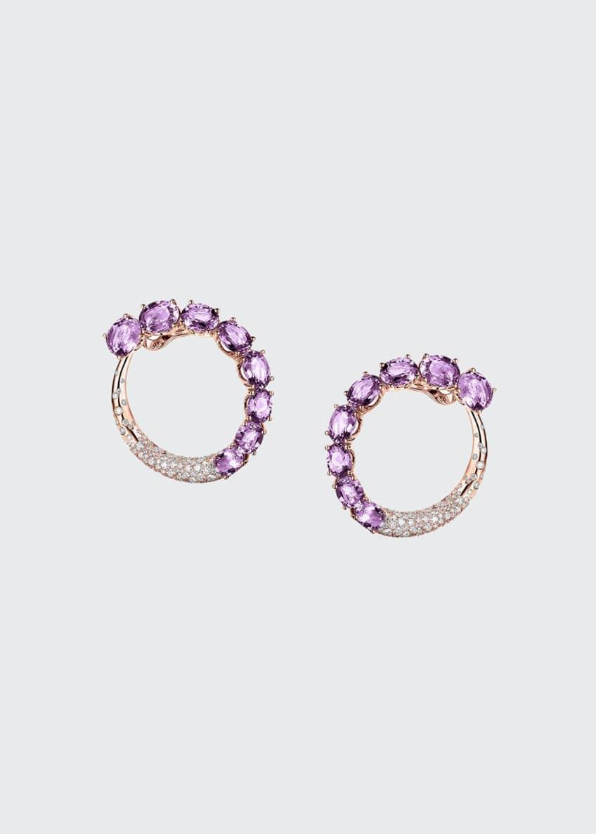 De Grisogono Doppia 18k Rose Gold Earrings w/