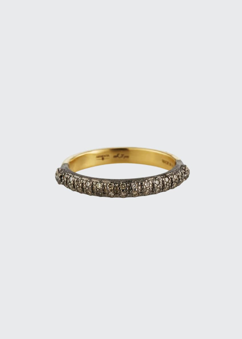 Image 1 of 2: Old World Halfway Diamond Stack Ring, Size 6.5